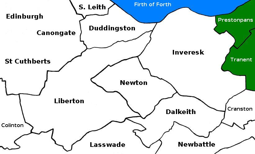 map of Midlothian